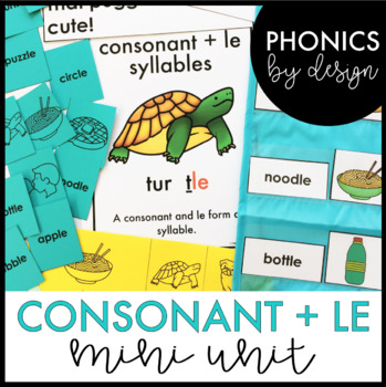 Two Syllable Words with Consonant -le Word Work Printables