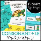 Phonics by Design Two Syllable Words with Consonant + LE Mini Unit