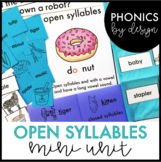 Phonics by Design Two Syllable Words with Open Syllables {CV} Mini Unit