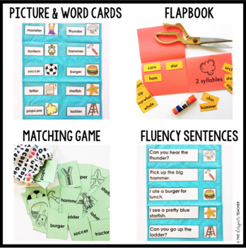 Phonics by Design Two Syllable Words with R-Controlled Vowels Mini Unit