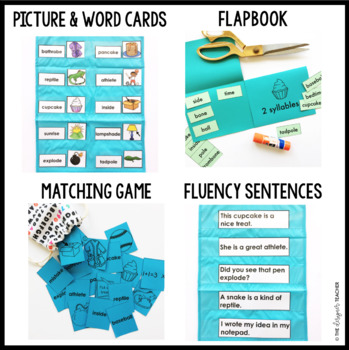 Two Syllable Words with Silent E Word Work Printables {VC/CVCe}