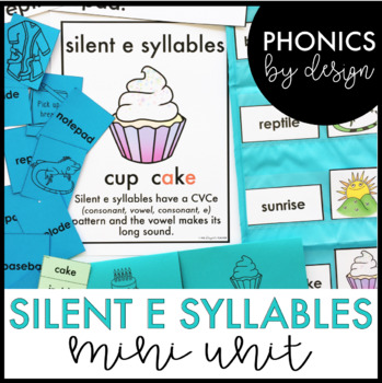 Phonics by Design Two Syllable Words with Silent E {VC/CVCe} Mini Unit