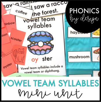 Two Syllable Words with Vowel Teams Word Work Printables