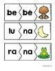 Two Syllables Puzzles in Spanish ( Rompecabezas palabras de dos silabas )