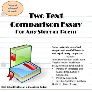 Two Text Comparison Essay Writing, For Any Two Stories or Poems - WRD