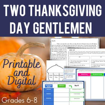 Two Thanksgiving Day Gentlemen Mini-Unit
