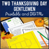 Two Thanksgiving Day Gentlemen By O.Henry Printable AND Digital