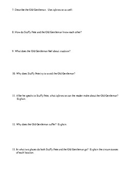 """""""Two Thanksgiving Day Gentlemen"""" Worksheet (or Test) with Detailed Answer Key"""