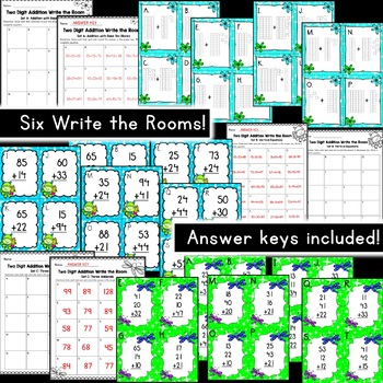 Two & Three Digit Addition No Regroup [[BUNDLE!]]