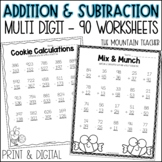 Two & Three Digit Addition and Subtraction (with and without regrouping)