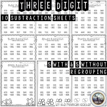 Two and Three Digit Addition and Subtraction Worksheets