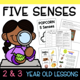 Two and Three Year Old FIVE SENSES Thematic Unit Lesson Plans