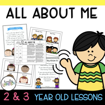 2 and 3 Year Old Lesson Plans ALL ABOUT ME