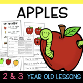 Two & Three's APPLE Lesson Plans