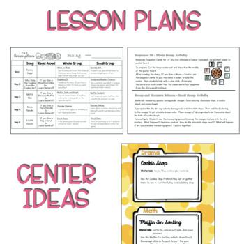 Two & Three's BAKING Lesson Plan