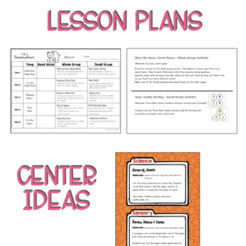 Two & Three's BEAR Lesson Plans