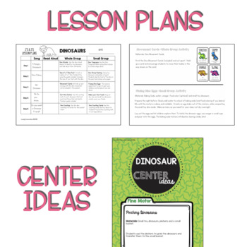 Two & Three's DINOSAUR Lesson Plans