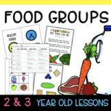 Two & Three's FOOD GROUPS Lesson Plan