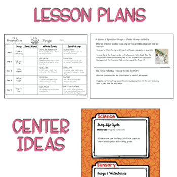 Two & Three's FROG Lesson Plans