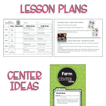 Two & Three's Farm Lesson Plans
