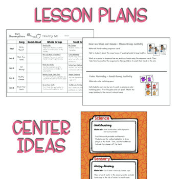 Two & Three's HEALTHY ME Lesson Plan