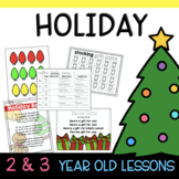Two & Three's HOLIDAY Lesson Plans