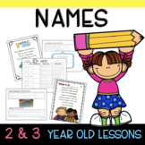 Two & Three's NAME Lesson Plans