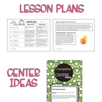 Two & Three's PUMPKIN Lesson Plans