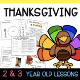 Two & Three's THANKSGIVING Lesson Plans