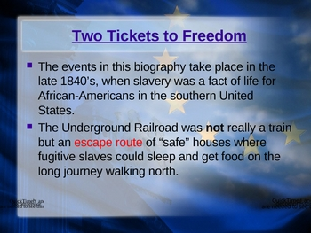 """Two Tickets to Freedom"" - OCR - Vocabulary & Spelling"