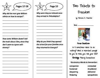 Two Tickets to Freedom Trifold - Imagine It 4th Grade Unit