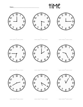 Terrific Time Worksheets