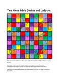 Two Times Table- Multiplication Snakes and Ladders. Active Maths.