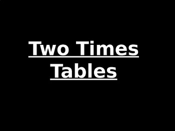 Two Times Table Review