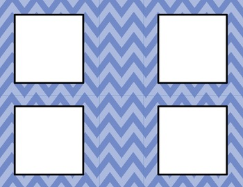 Two Tone Blue Chevron Classroom Labels and Tags