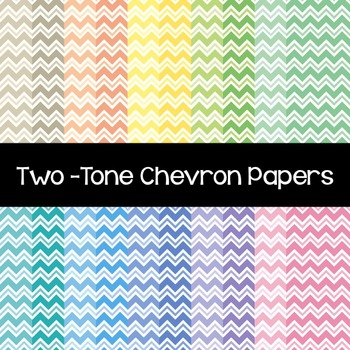 Two-Tone Chevron Papers