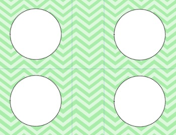Two Tone Green Chevron Classroom Labels and Tags