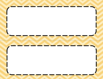 Two Tone Orange Chevron Classroom Tags and Labels