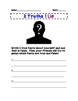 Two Truths, 1 lie