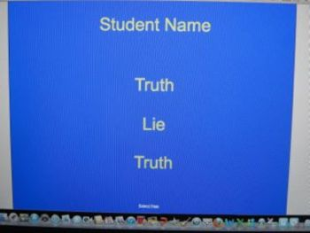 Two Truths, One Lie