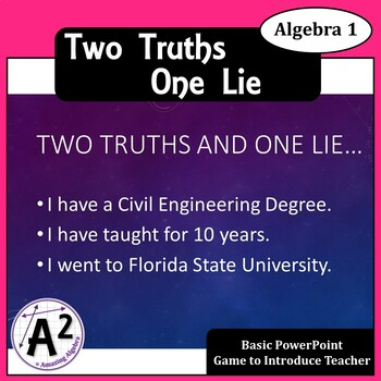 Two Truths One Lie First Day Game