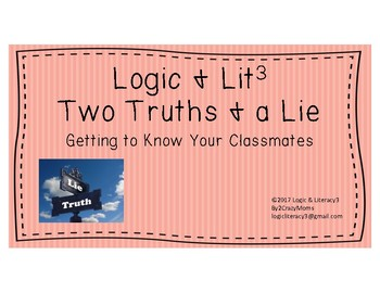 Two Truths & a Lie - Ice Breaker Activity
