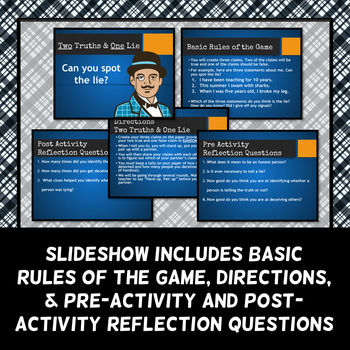 Two Truths and One Lie - Icebreaker Activity - Back to School Activity