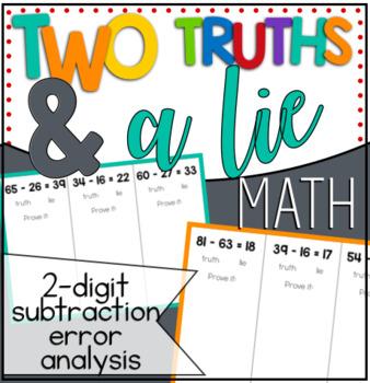 Two Truths & a Lie - 2-digit Subtraction