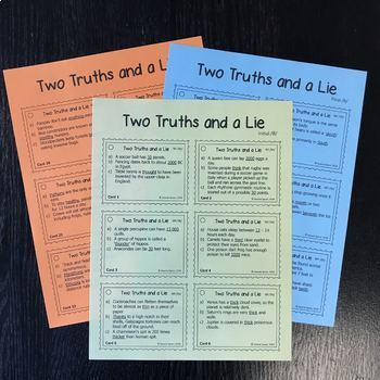 Two Truths and a Lie: An articulation activity for /th/