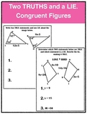 Two Truths and a Lie: Congruent Figures