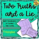Two Truths and a Lie Math Vocabulary Set 10