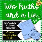Two Truths and a Lie Math Vocabulary Set 13