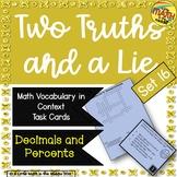 Two Truths and a Lie Math Vocabulary Set 16