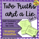Two Truths and a Lie Math Vocabulary Set 6